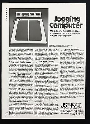 1978 Vintage Print Ad 1970s JOGGING COMPUTER Exercise Home System
