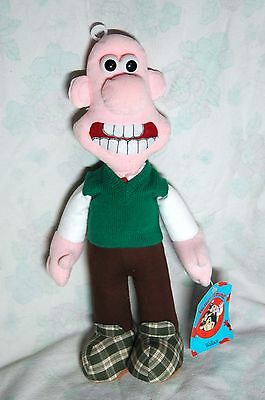 """Wallace (Wallace & Gromit) vintage 14"""" plush toy with tags"""