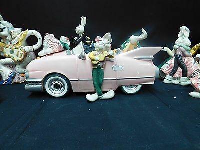 1994 Fitz & Floyd  Sock Hoppers Pink Cadillac Car Cookie & more