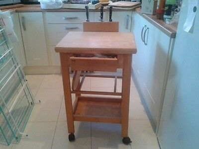 Solid Pine Butchers Block / Kitchen Island. Beautiful Kitchen Piece