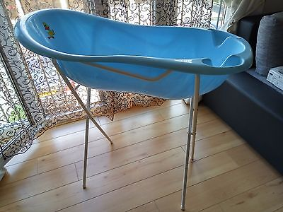 Large Lux Baby Bath 102cm with Stand and Thermometer in Blue