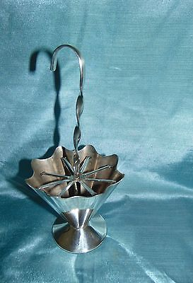 Stunning Period Art Deco Silver Plated Cocktail Stick Holder - Large Umbrella!