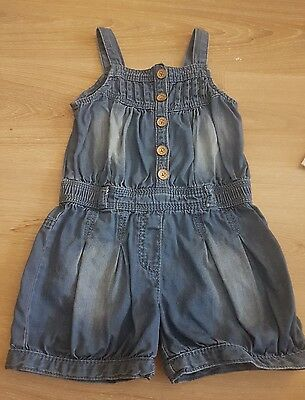 girls age 2-3 denim short playsuit