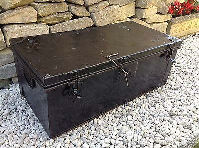 Metal Storage Trunk With Side Handles