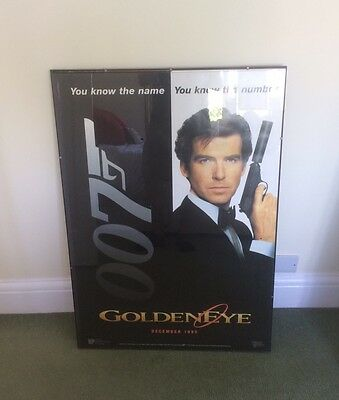 James Bond Goldeneye Movie Poster You Know The Name You Know The Number 1995 007