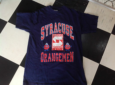 Vintage SYRACUSE ORANGE MEN  American Basketball t-shirt
