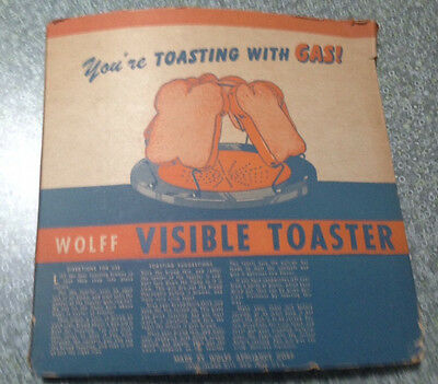 Antique 1920s Wolff Appliance Corp. 4 Slice VISIBLE TOASTER for Stove/Camping