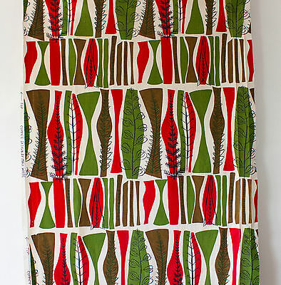 vintage 1950s Heals Coppice by Mary White abstract trees print cotton fabric