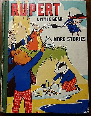 early Vintage Rupert Little Bear More Stories 1939 book Annual unused Theatre