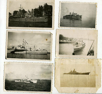 WW2 Job lot collection small photos Royal Navy Minesweeper HMS BYMS 2071 J871