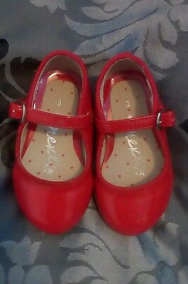 baby girls shoes size 3 patent red leather next excellent condition