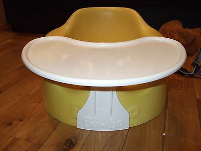 Yellow Bumbo Seat with Tray, Excellent Condition