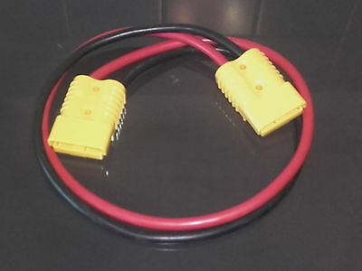 2m x 25mm² 175Amp Jump Start Leads Extension 2x Yellow SB175 Anderson Connectors