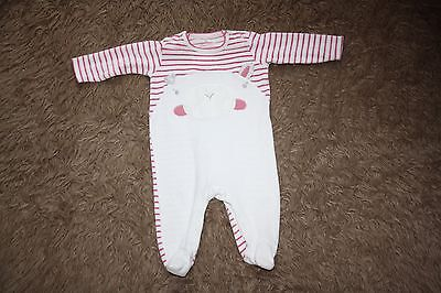 NEXT Baby Girl's Velour Sleepsuit - Up To 3 Months