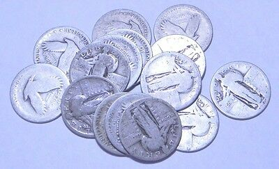 15 No Date Standing Libery Quarters 90% Silver
