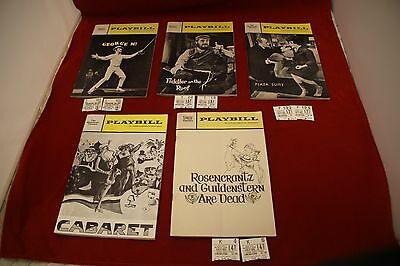Playbill Magazine lot of 5 vintage 1968