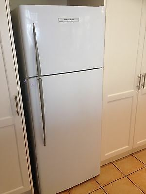 Fisher and Paykel White Refrigerator, Stainless Steel
