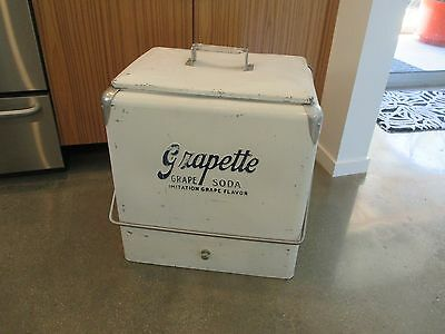Vintage Progress  Grapette Soda Cooler Nice