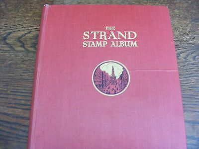 STANLEY GIBBONS THE STRAND STAMP ALBUM 30th EDITION 150 HINGED ASSORTED STAMPS