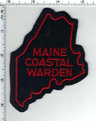 Costal Warden (Maine) Felt Shoulder Patch - new from the 1960's - VERY RARE