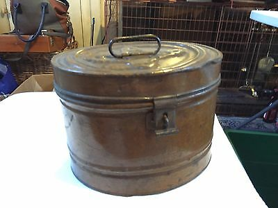Antique Metal Hat Tin