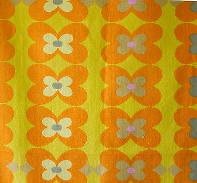vintage 1960s Heals Summer Glory Anne Fehlow abstract floral cotton barkcloth
