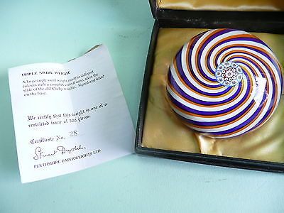 Perthshire Paperweight Large Triple Swirl  28/300,...................... ref.183