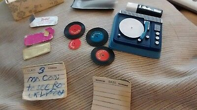 vintage barbie lot record player
