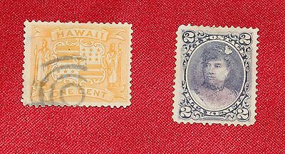 Hawaii Stamps x 2  (1891 Extremely Rare & 1894 Rare)