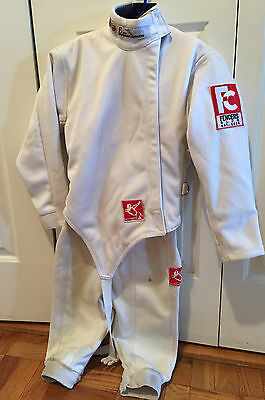 8PC Blade Fencing 350N Fencers Club Kids Uniform Sz 24 for Right Hand