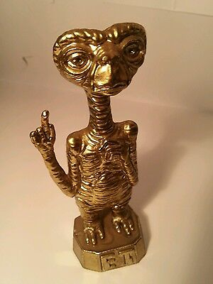 "E.T. Metal Figure (4"" Figurine made of Brass??) The Extra Terrestrial 1982"