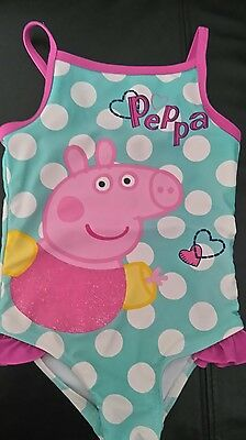 peppa pig cute baby girls swimsuit age 18-24months