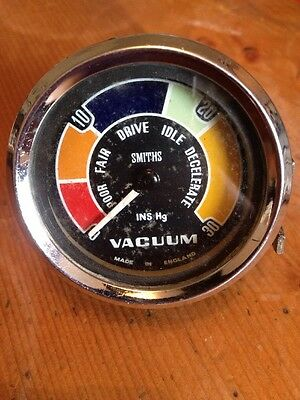 SMITHS VACUUM GAUGE VC1301/00 BRACKET MINI COOPER LOTUS FORD Rare Early Type