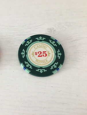 Casino Royale Casino Poker Chip Screen Used Original Movie Film Prop - Green
