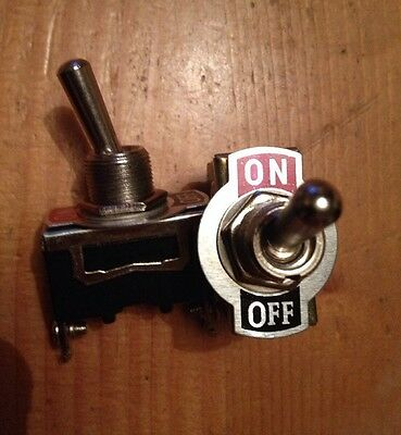 2 x 12V HEAVY DUTY 25A UNIVERSAL METAL ON OFF TOGGLE FLICK SWITCH CAR CAMPER VAN