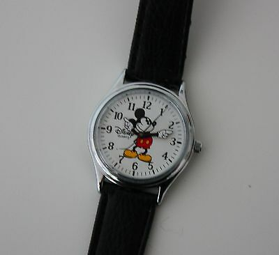 Mickey Mouse Watch by Disney Stores - Leather Strap - Collectable - (No.1)