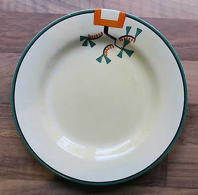 """Clarice Cliff Bizarre Ravel 7"""" side plate hand painted art deco 1/2"""