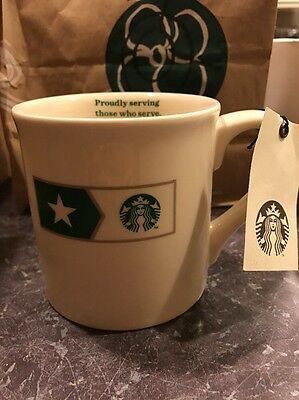 STARBUCKS NEW MILITARY PROUDLY SERVING LIMITED EDITION USA Coffee MUG CUP