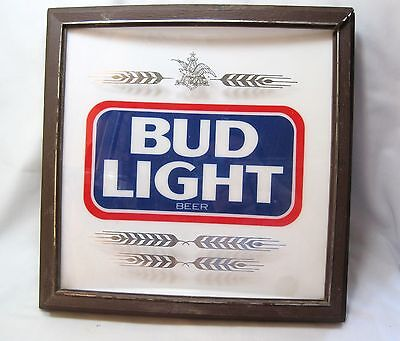 Bud Light Vintage Lighted Sign Beer Signs Bar Wall Decor Man Cave TW