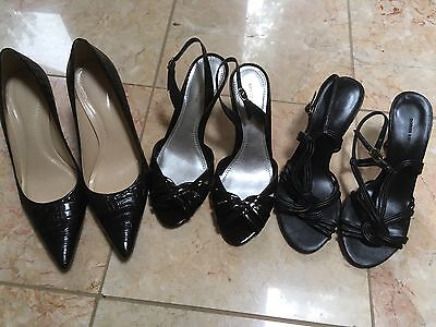 Lot of 3 Pairs of Size 6 Shoes - Ann Taylor and Banana Republic