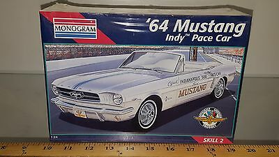 1/24 MONOGRAM 1964 FORD MUSTANG INDY PACE CAR MODEL KIT SEALED q-2