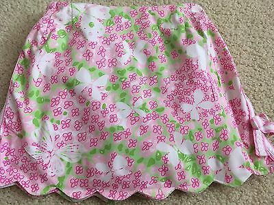 LILLY PULITZER Girls Scalloped Butterfly Skort, 4-6, Pink Green Skirt Shorts