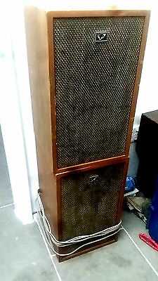 Vintage 1970s Pair Wood Speakers His Masters Voice Collectable for Record Player