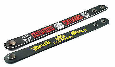 2X Disturbed & FIVE FINGER DEATH PUNCH Rubber Wristband Bracelet Free Shipping