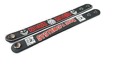 2X Disturbed & System of a Down Rubber Wristband Bracelet Free Shipping