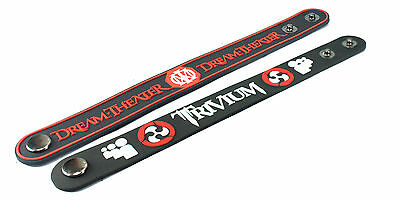 2X Dream Theater & Trivium Rubber Wristband Bracelet Free Shipping