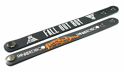 2X FALL OUT BOY & PANIC! AT THE DISCO Rubber Wristband Bracelet Free Shipping