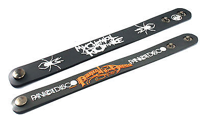 2X MY CHEMICAL ROMANCE & PANIC! AT THE DISCO Rubber Wristband Bracelet