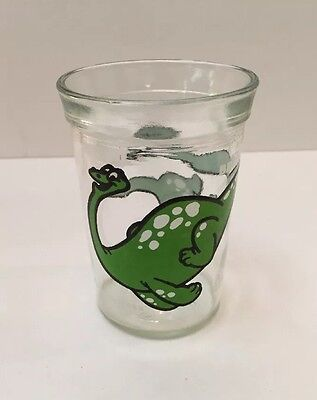 Welch's Jelly Jar Brontosaurus 1988 Anchor Hocking Collectible Juice Glass
