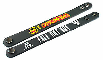 2X THE OFFSPRING & FALL OUT BOY Rubber Wristband Bracelet Free Shipping